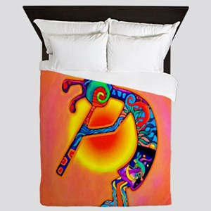 Lizard Kokopelli Sun Queen Duvet
